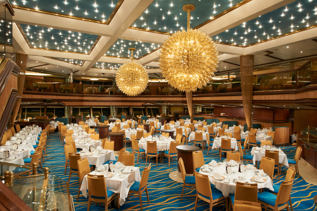 The Carnival Sunrise dining room