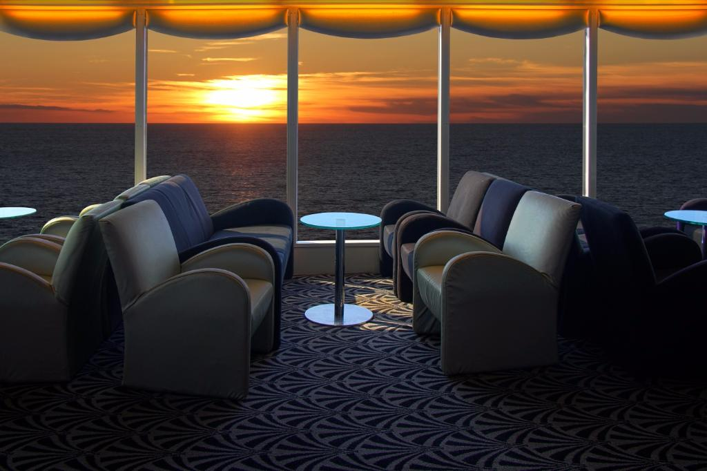 lounge on a cruise ship