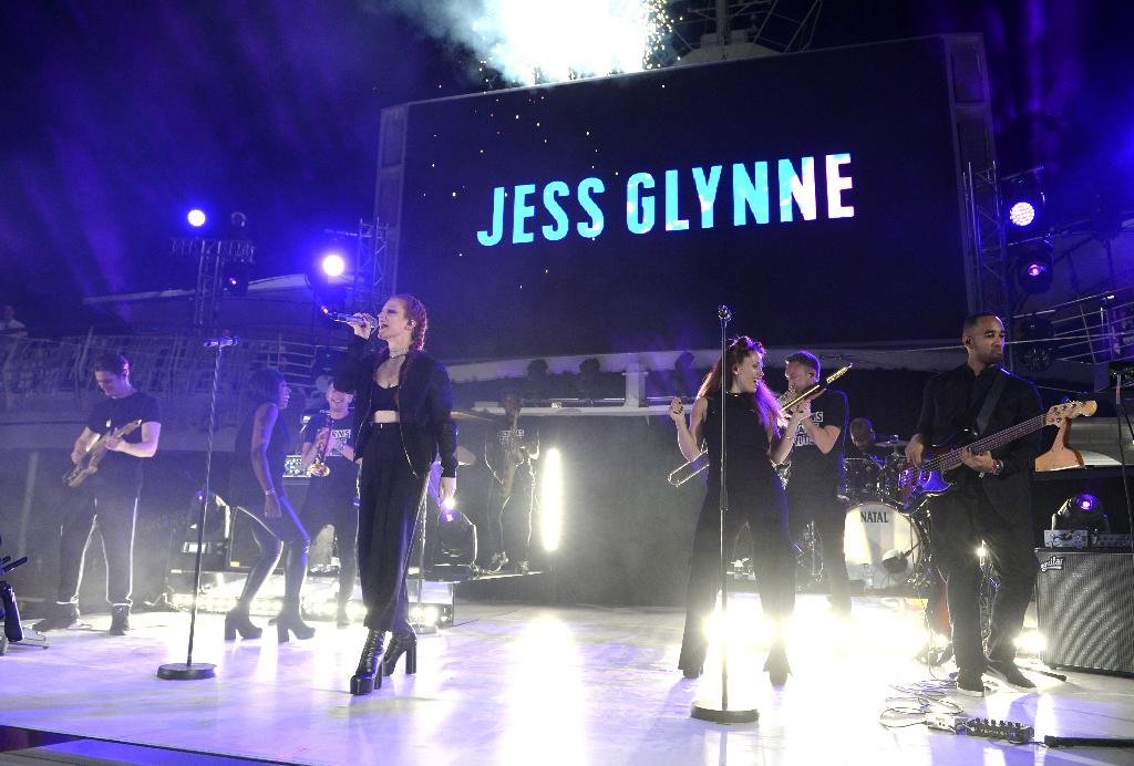 Jess Glynne performs at the launch of Thomson Cruises' newest ship, TUI Discovery, in Palma, Majorca. Picture date 9th June, 2016. Picture credit should read Doug Peters/PA Wire