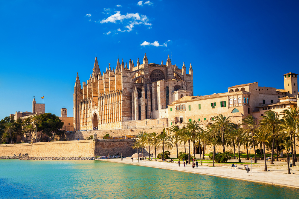 Cathedral of Santa Maria, also known as La Seu, in Palma