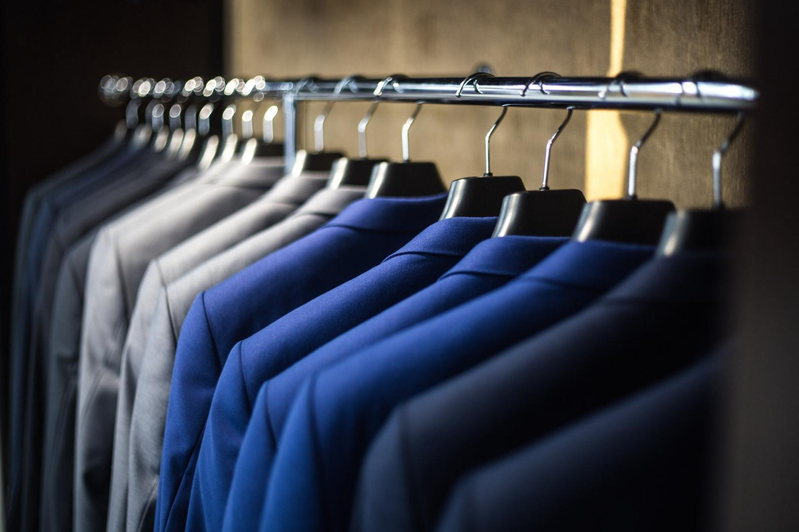 Suits on hangers