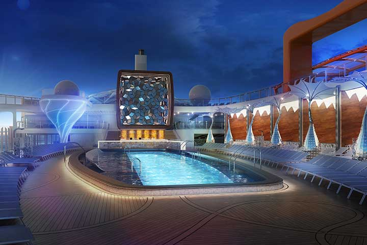 Celebrity Cruises biggest pool to date onboard Edge