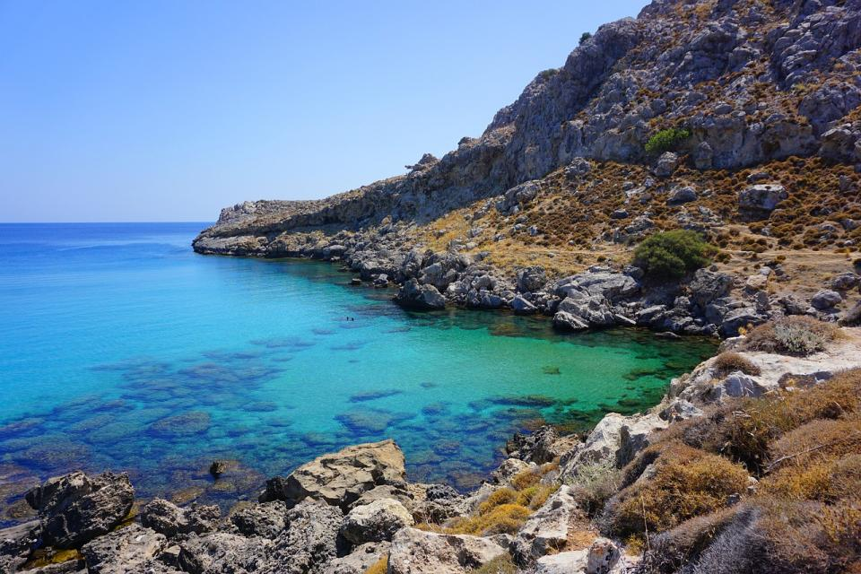 rocky bay on Rhodes