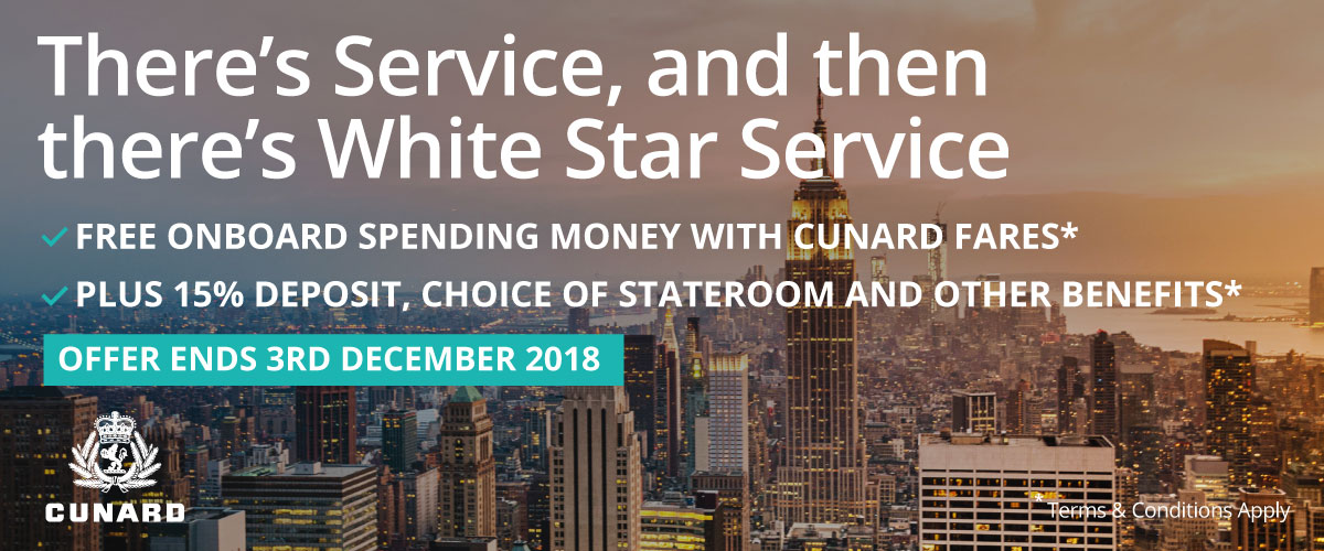Cunard's Promotion – There's service, and then there's White Star Service