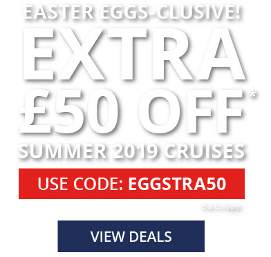£50 off Summer 2019 cruises